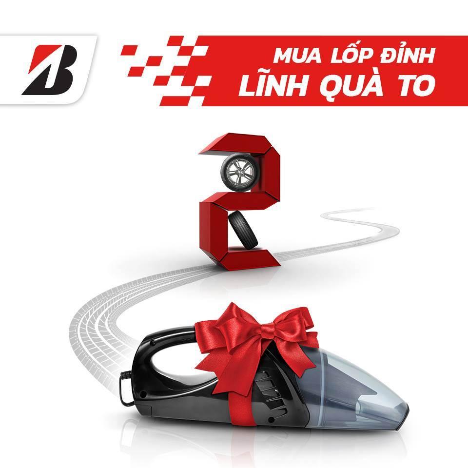 Nhận ngay máy bơm đa năng khi thay 2 lốp Bridgestone Turanza T005 hoặc Alenza