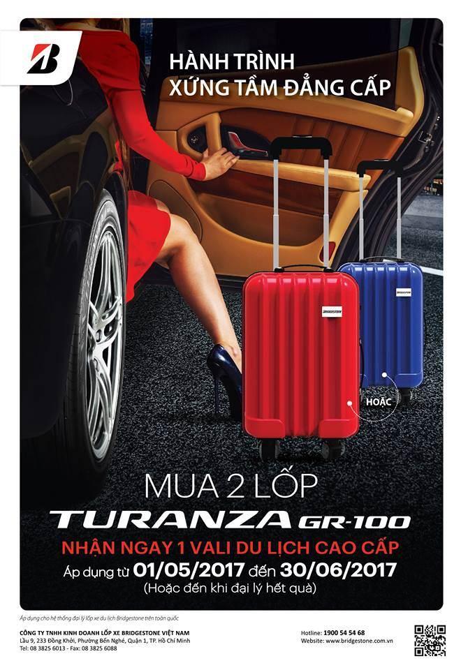 Hành trình xứng tầm đẳng cấp cùng lốp êm Bridgestone Turanza GR100