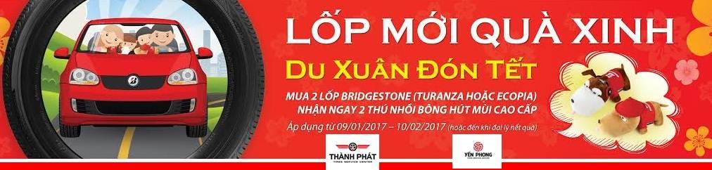 """Tưng bừng chương trình khuyến mại """"LỐP MỚI QUÀ XINH, DU XUÂN ĐÓN TẾT"""" cùng Bridgestone Việt Nam"""